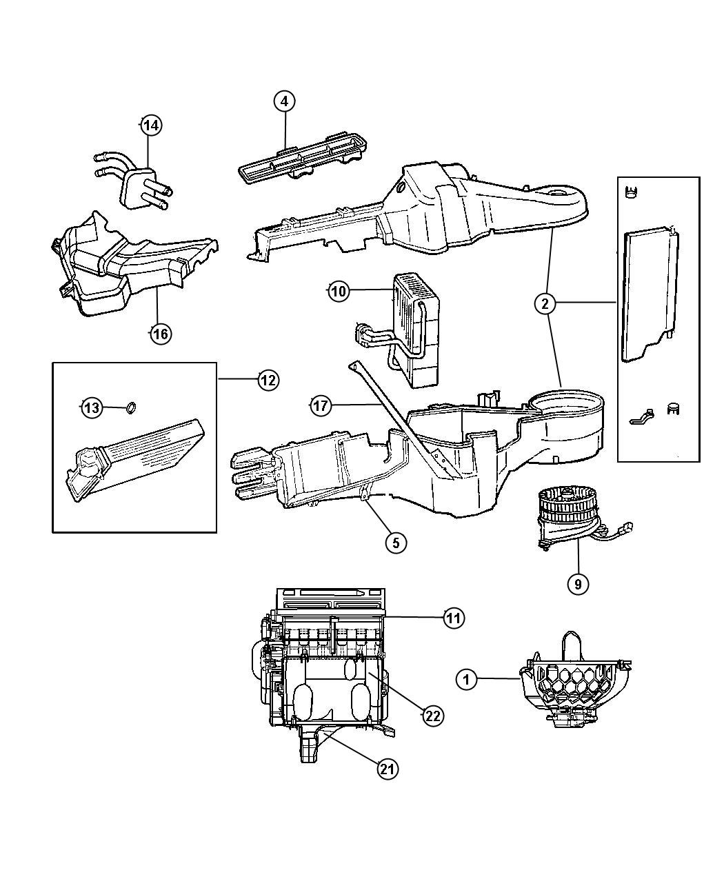 Jeep Compass Seal Kit Used For A C And Heater Unit Air