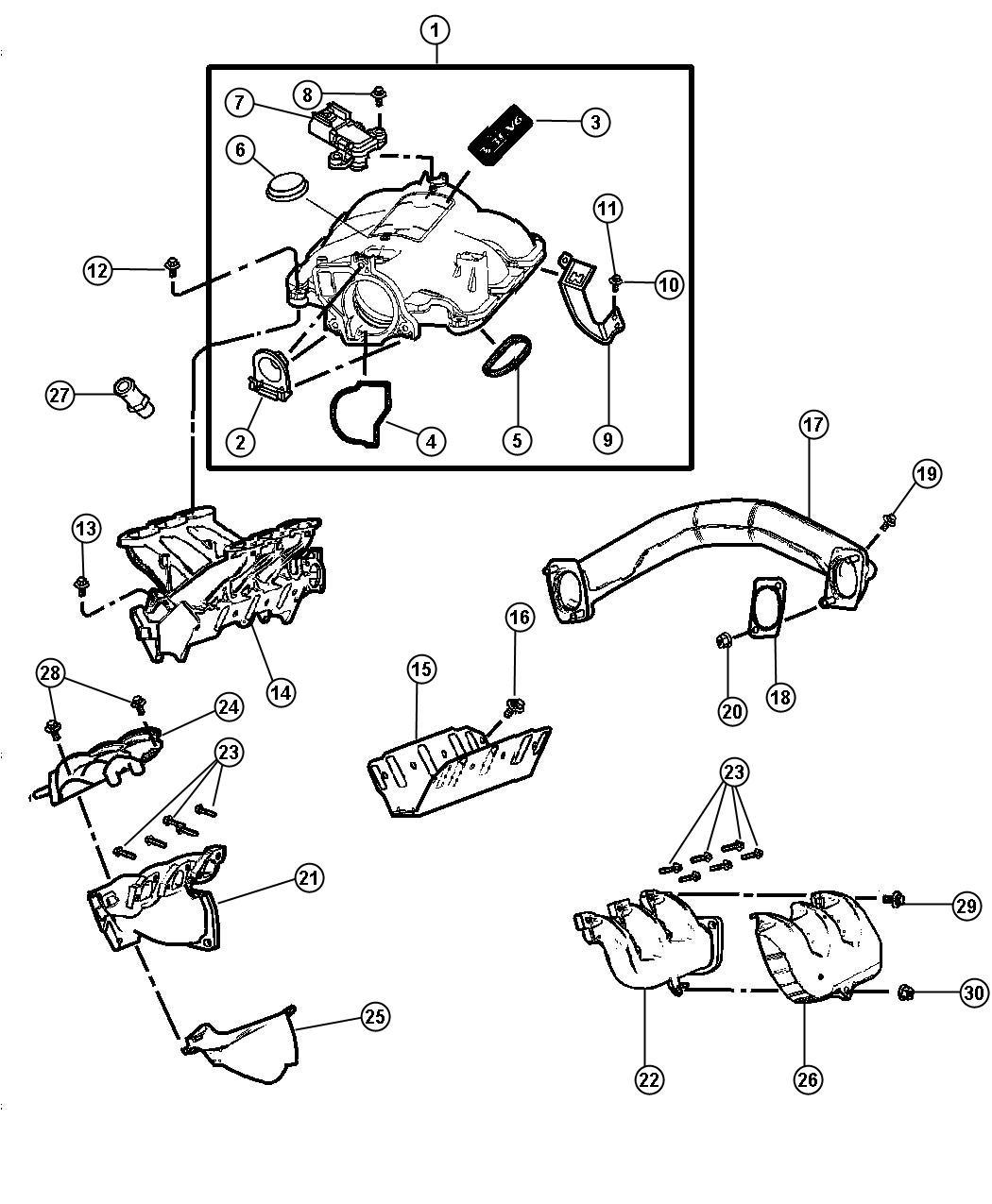 Chrysler Pt Cruiser Manifold Exhaust Left