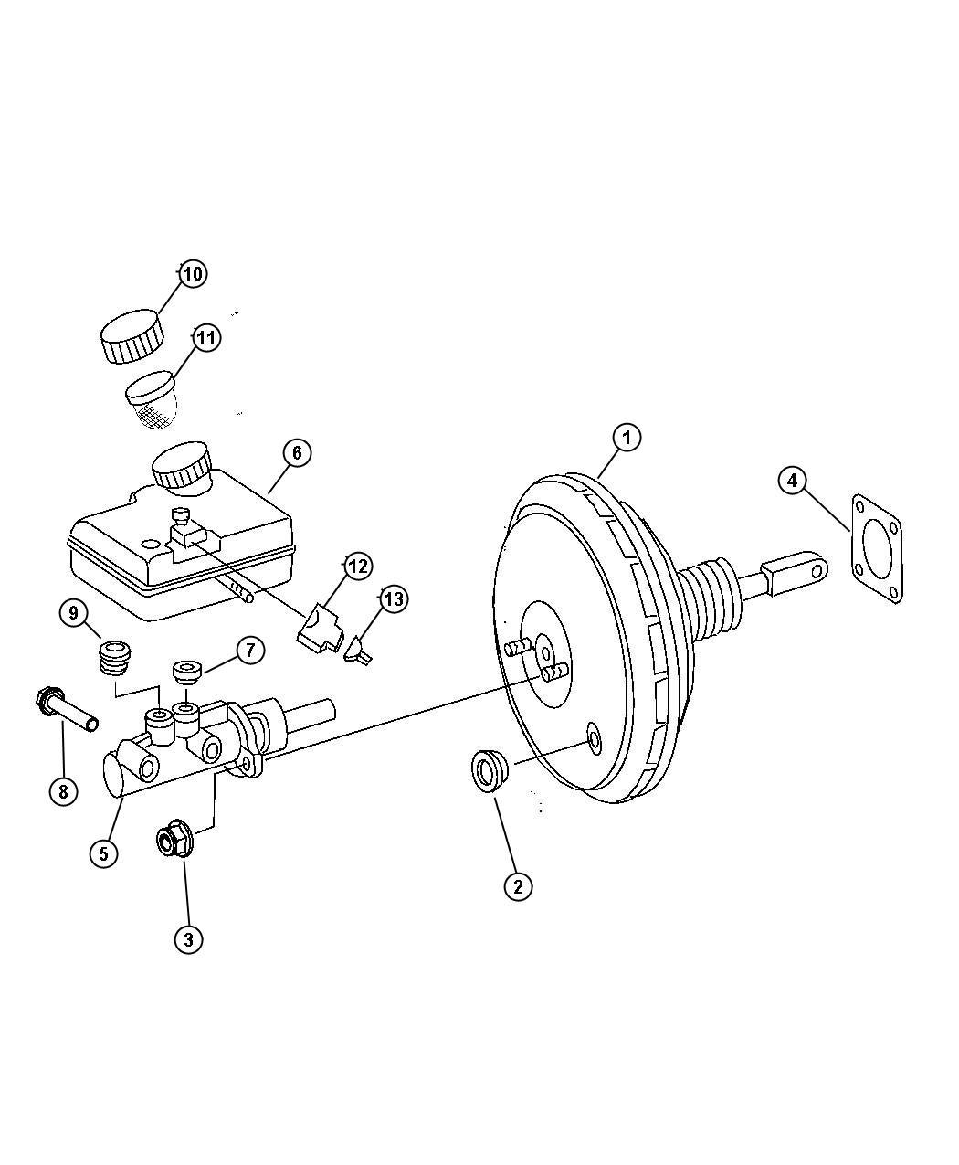 Dodge Sprinter Master Cylinder Brake Up To Chassis