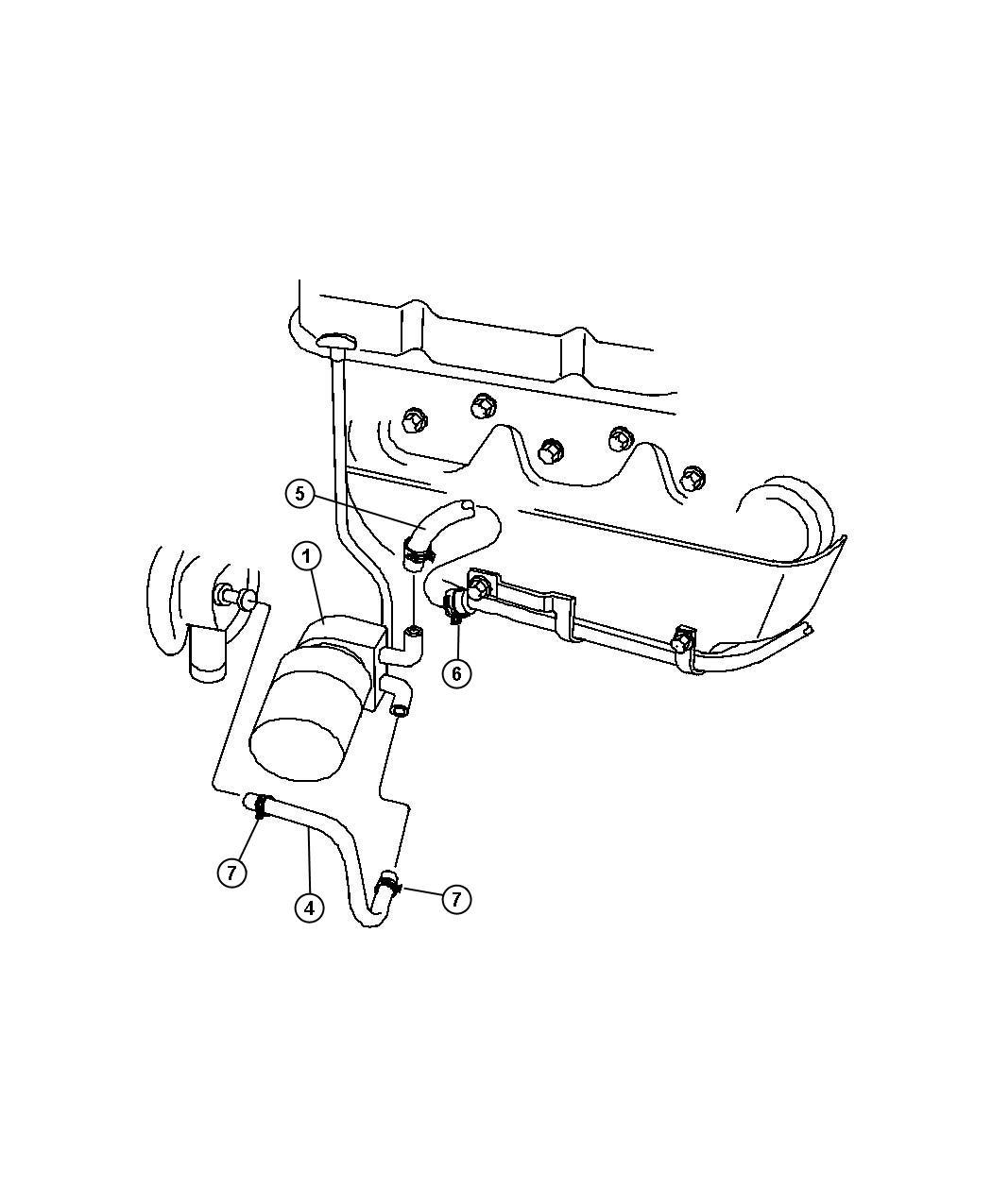 Dodge Grand Caravan O Ring Oil Cooler Engine Group