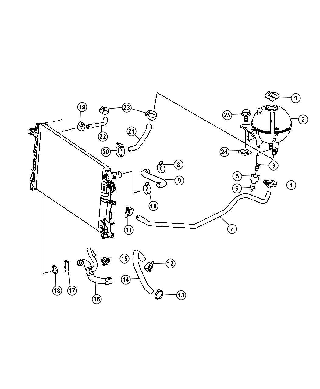Dodge Sprinter Hose Coolant Cooling Water Line Breathing Engine Tank Hoses