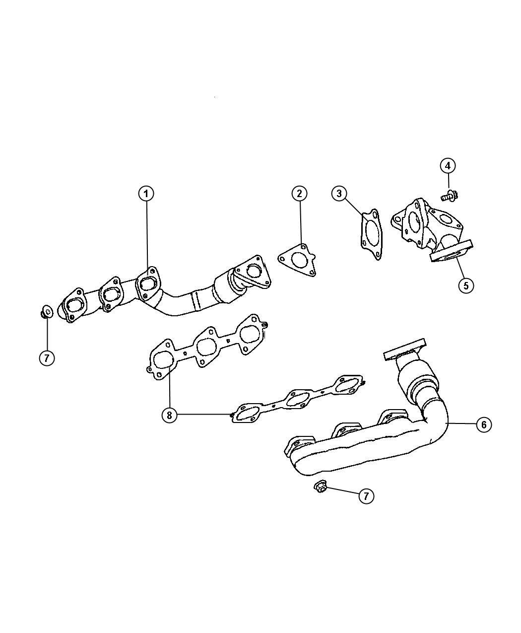 Jeep Grand Cherokee Gasket Exhaust Manifold Right