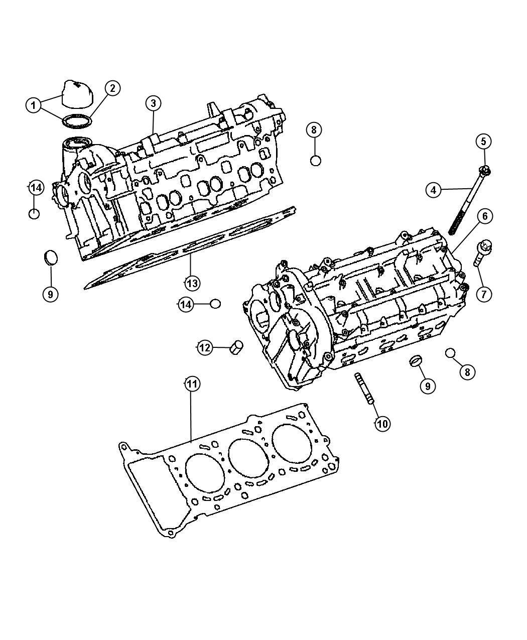 Dodge Sprinter Gasket Cylinder Headsel