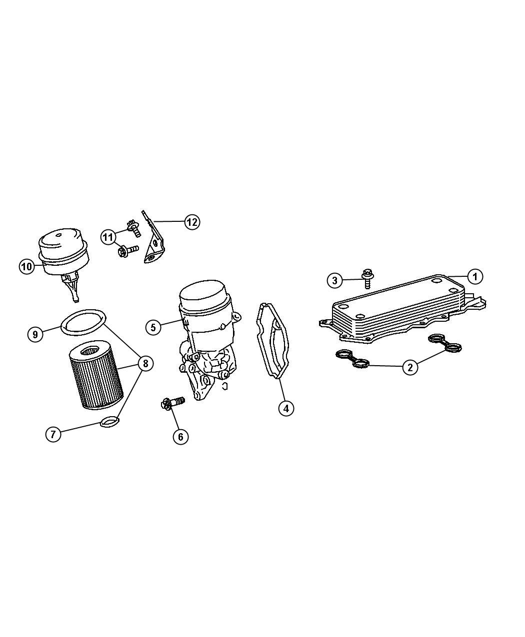 Jeep Compass Gasket Oil Cooler To Cylinder Crankcase