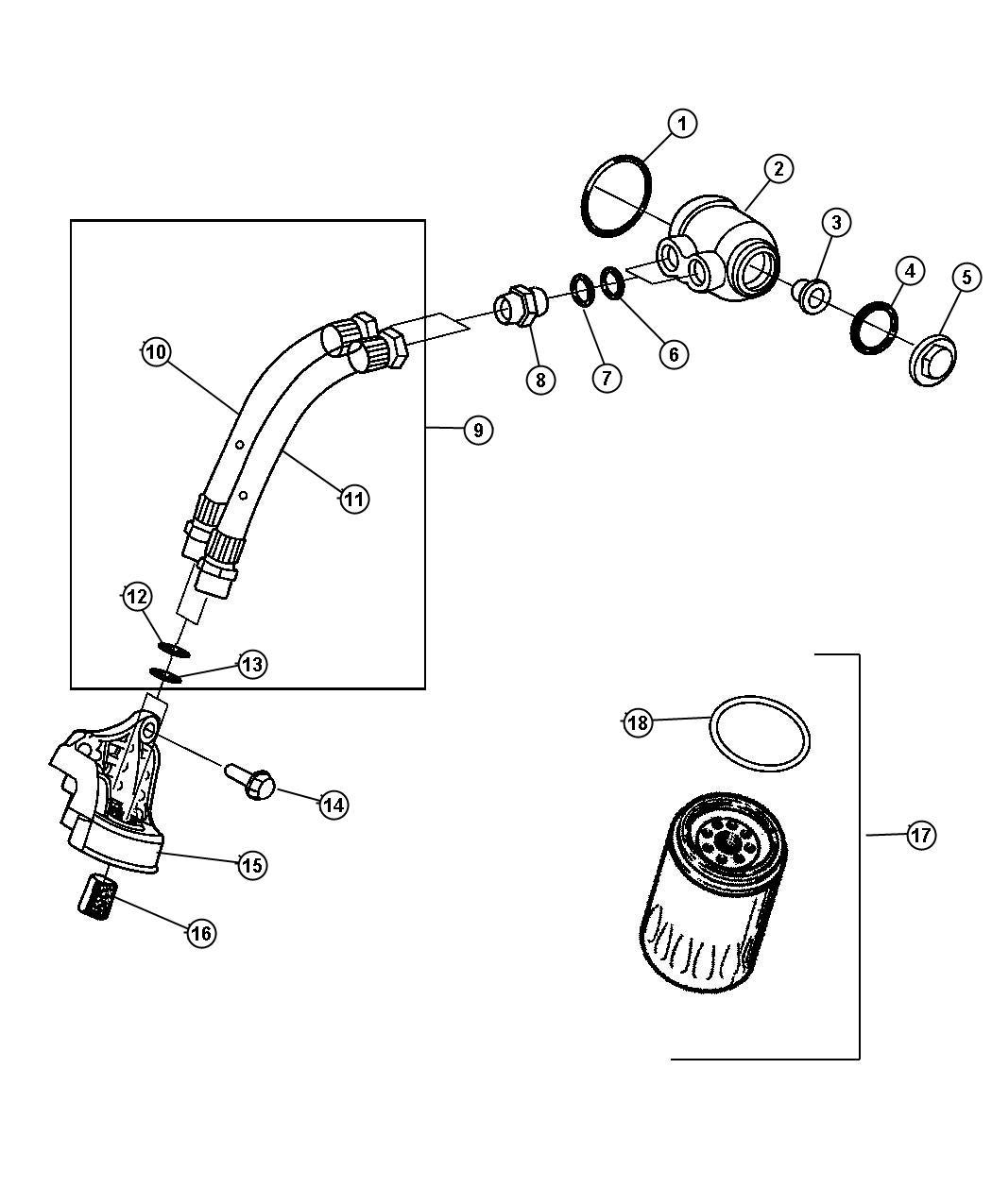 Dodge Avenger Filter Engine Oilsel Turbo Cyl