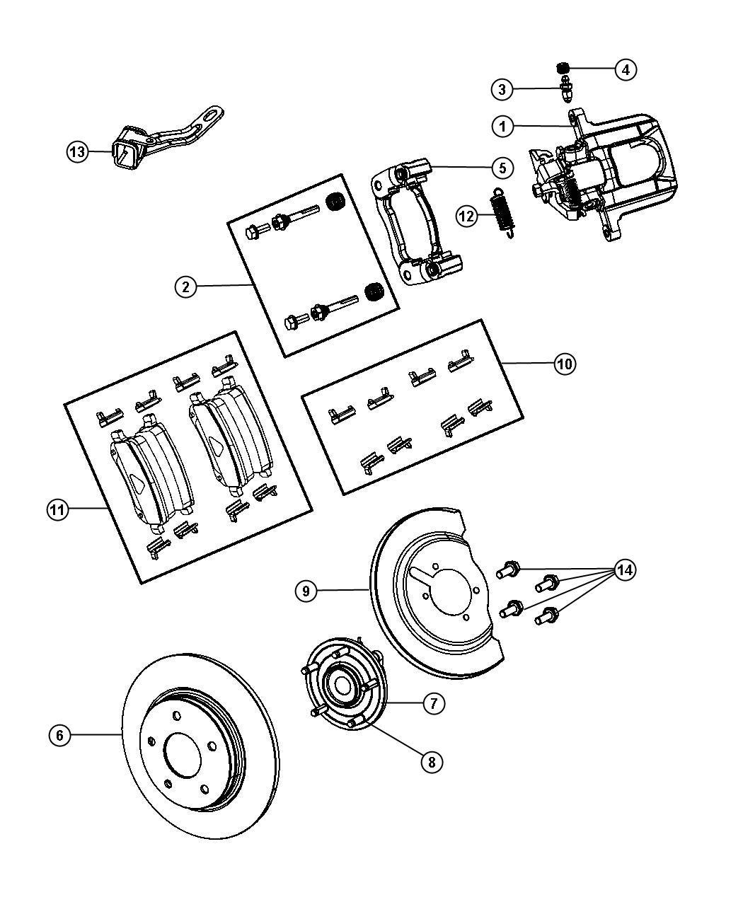 Dodge Grand Caravan Caliper Assembly Left Disc Brake
