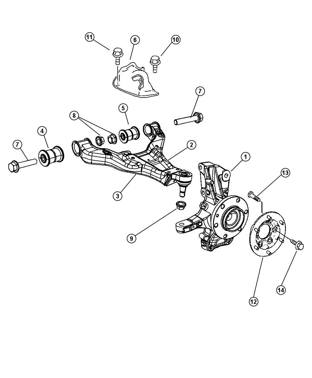 Dodge Sprinter Bolt Hex Head Control Arm