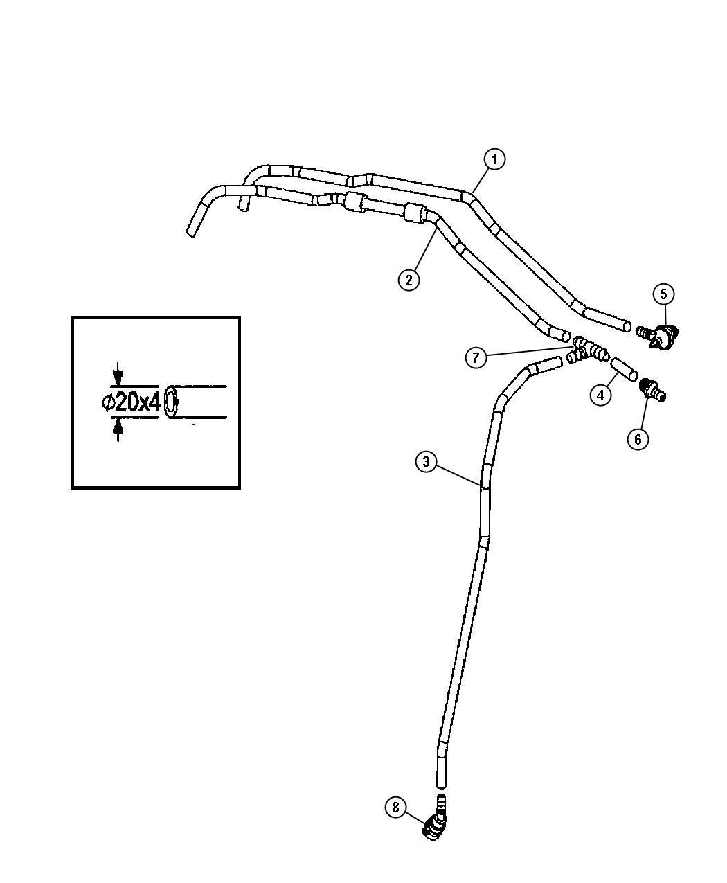 Dodge Sprinter Hose Vacuum 3 5l V6 Gas Engine