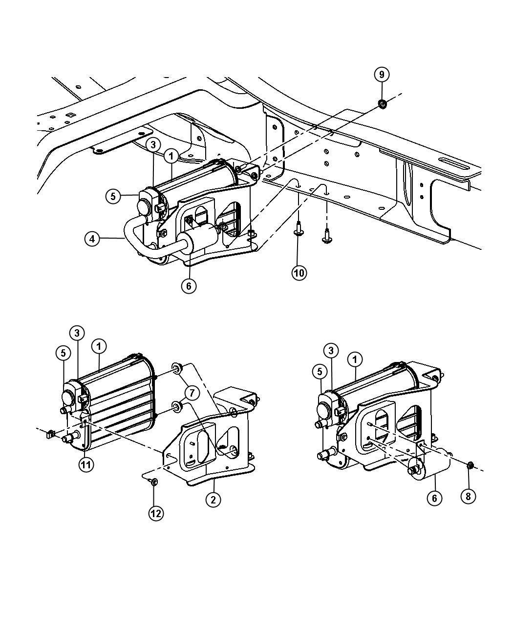 Dodge Ram Bracket Vapor Canister Leak Vacuum