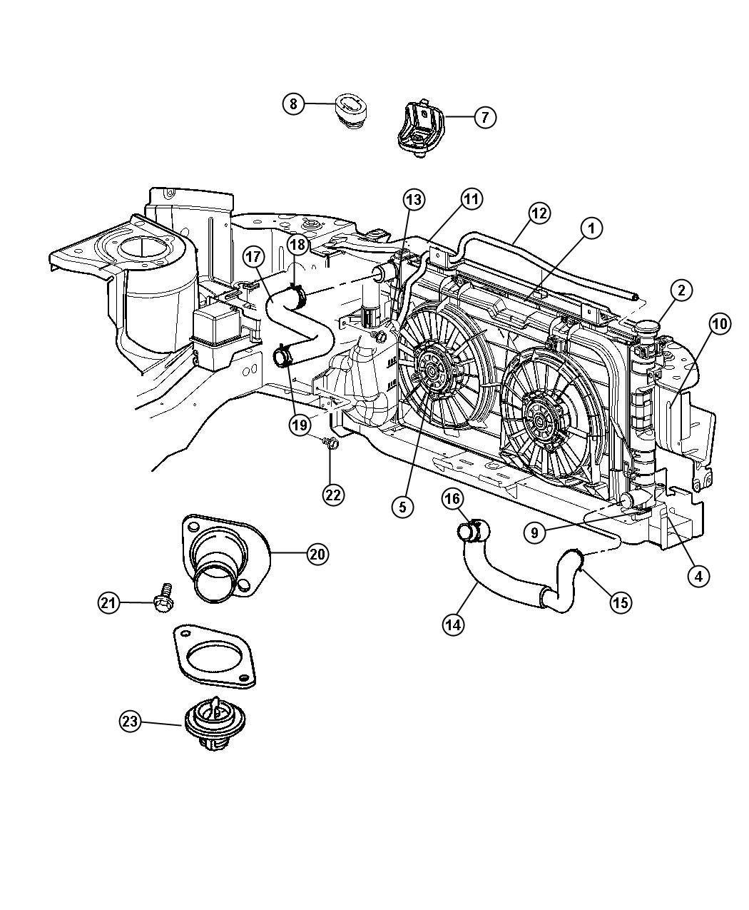 Dodge Ram Used For Hose And Clamp Radiator