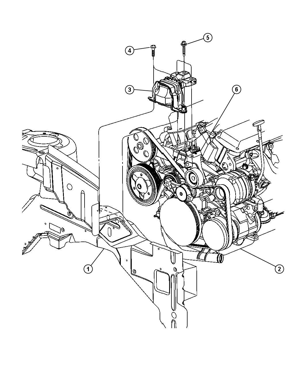 Dodge Ram Support Engine Mount Chain Carpets