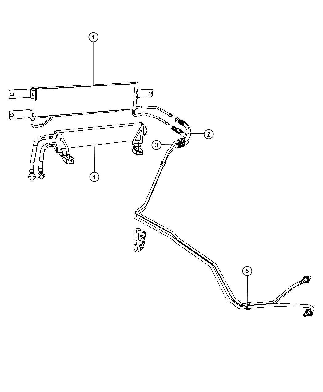 Dodge Ram Cooler Transmission Oil Heavy Duty