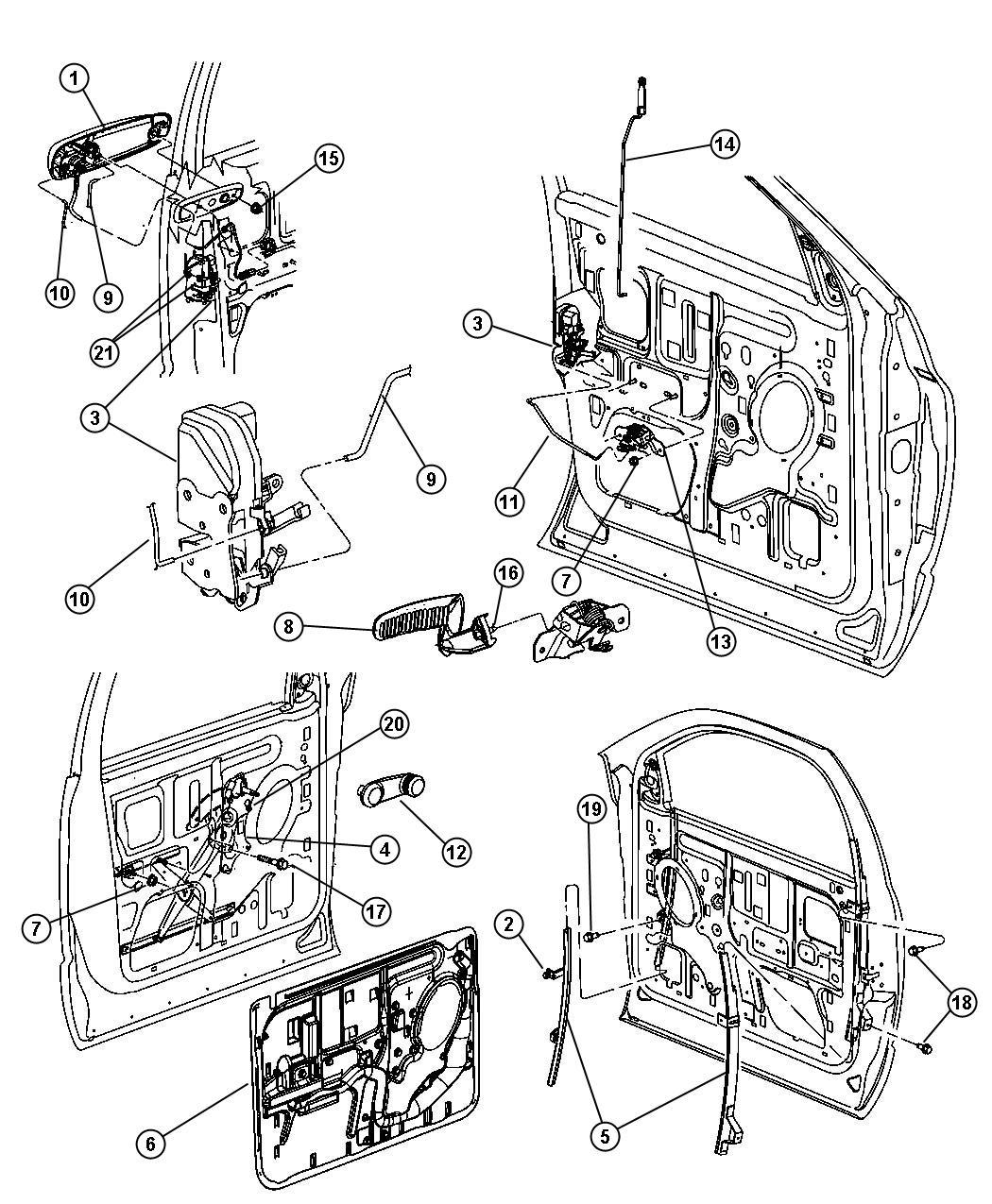 Dodge Ram Handle Exterior Door Front Door Exterior
