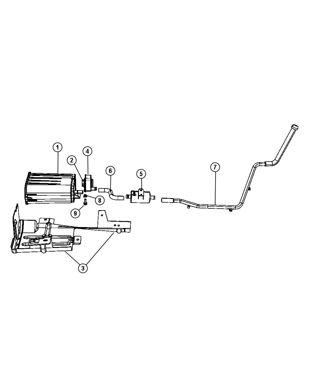 Chrysler Pacifica Hose Vacuum Canister Leak Pump