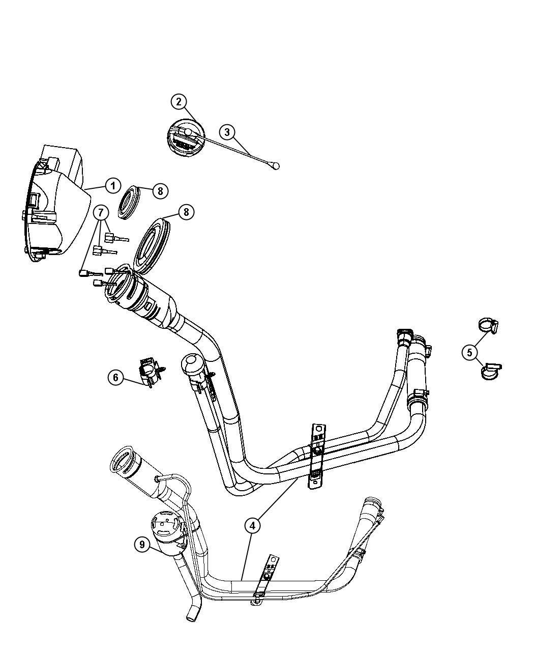 Dodge Nitro Cap Fuel Filler