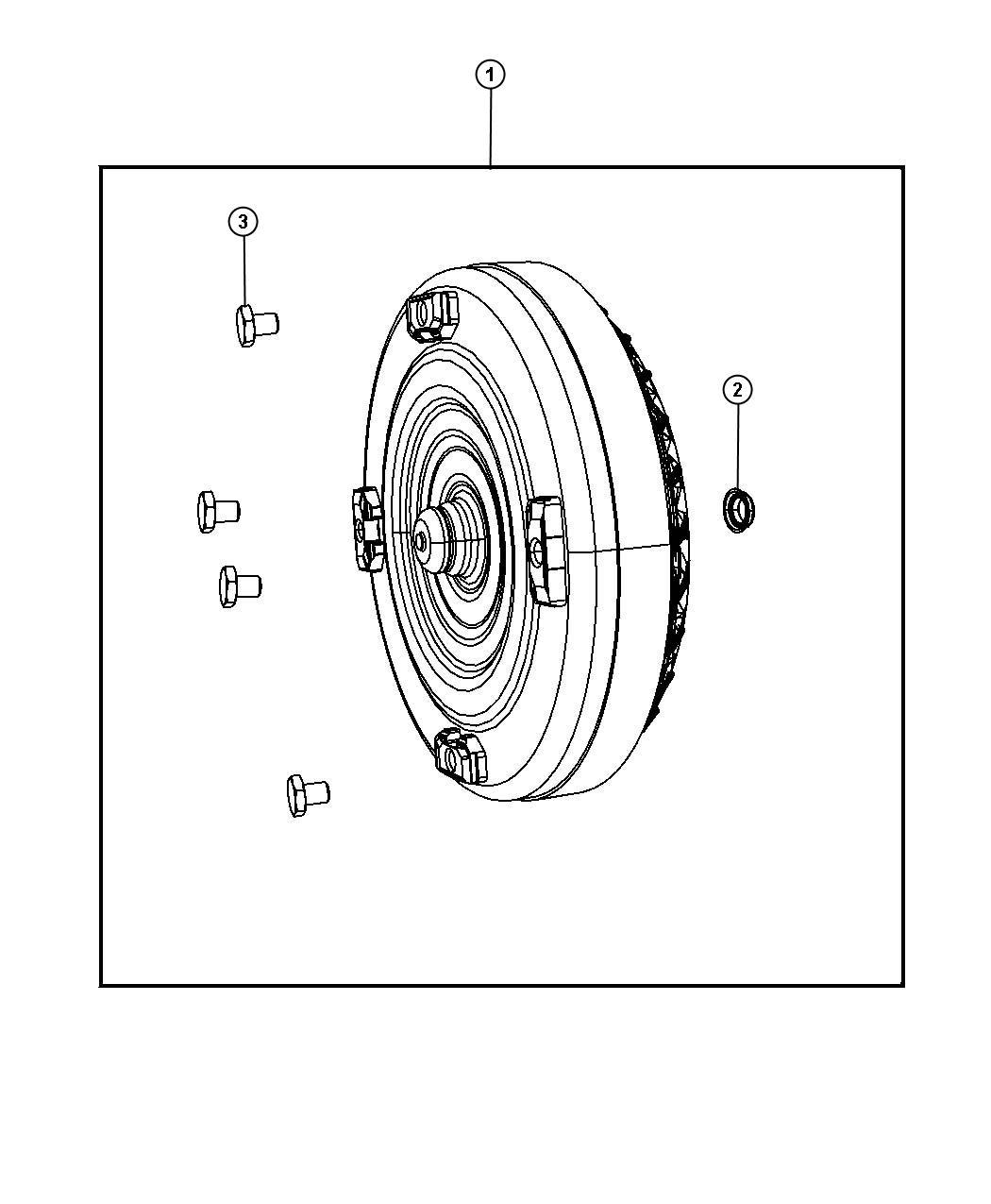 Chrysler Pacifica Converter Kit Torque Remanufactured