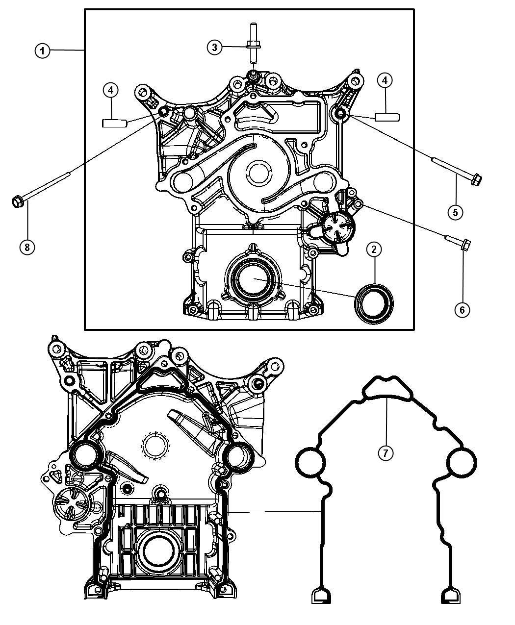 Dodge Ram Bushing Timing Cover Mounting