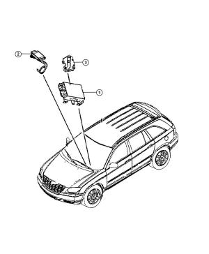 2007 Chrysler Pacifica Module Immobilizer [x81xgm