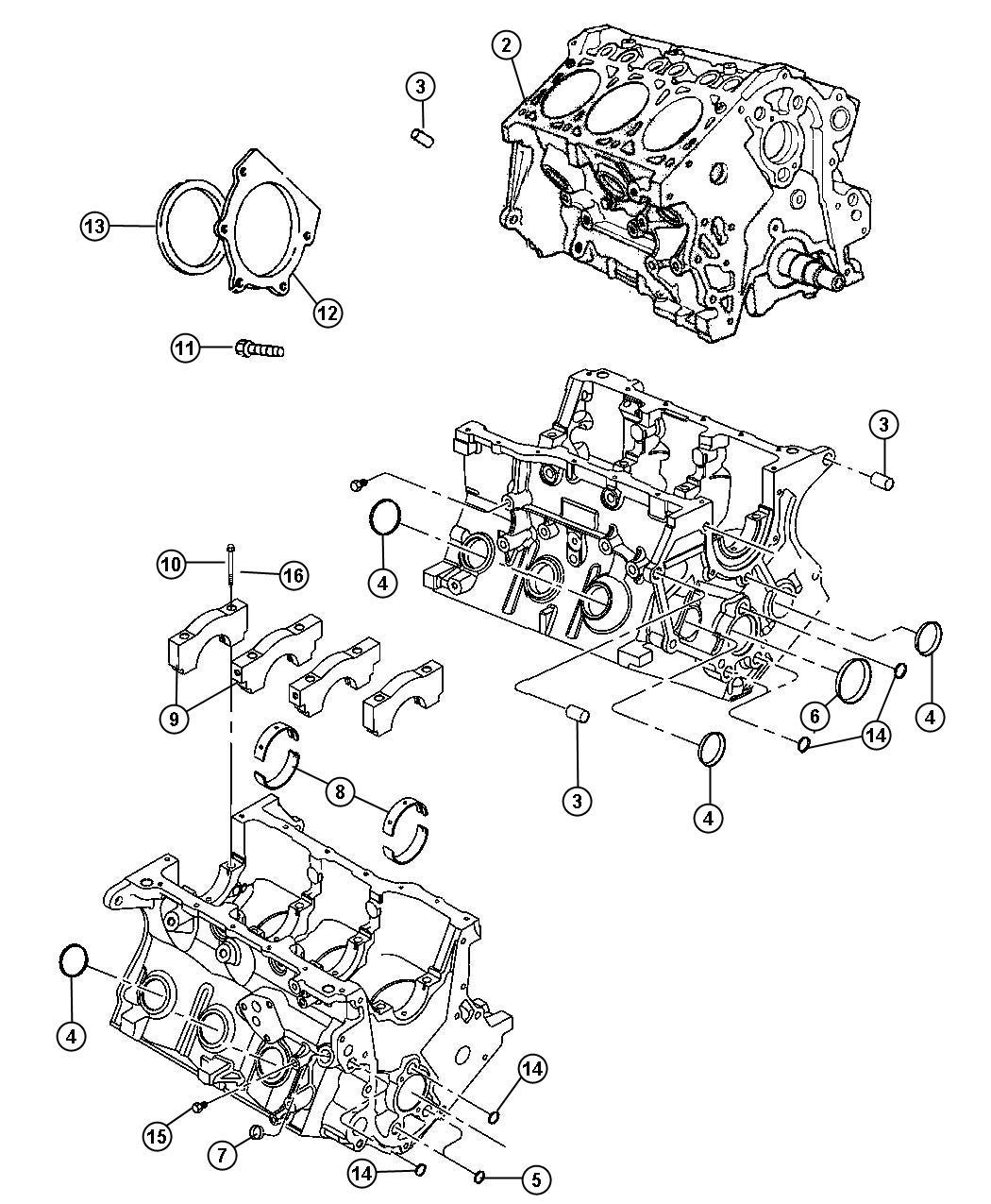 Chrysler Pacifica Engine Short Block Cylinder