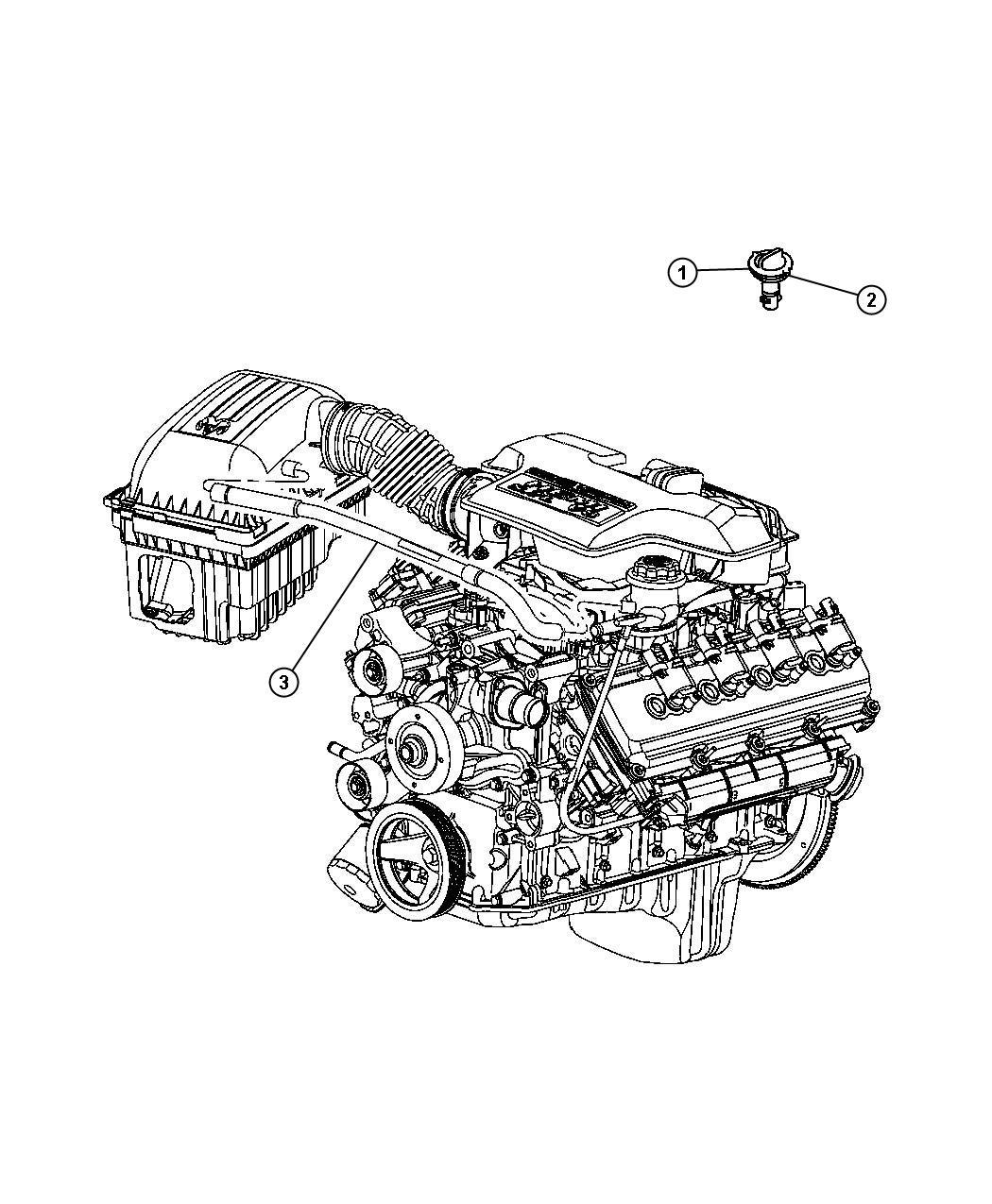 Dodge Ram Hose Crankcase Vent Pcv Cab Engine