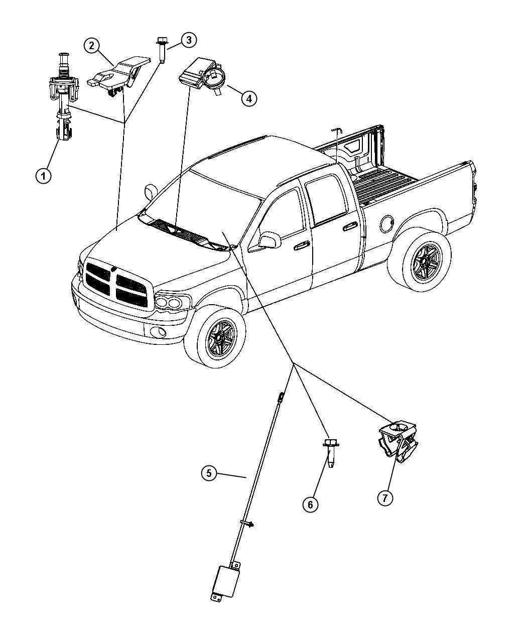 Dodge Ram Module Control Module Remote System