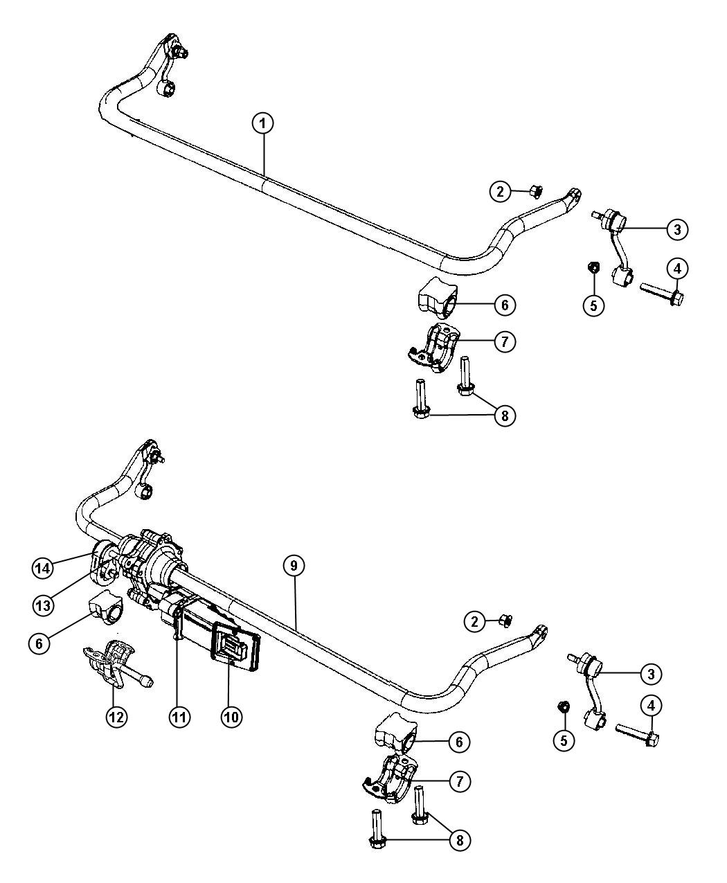 Jeep Wrangler Link Assembly Stabilizer Bar Right Or