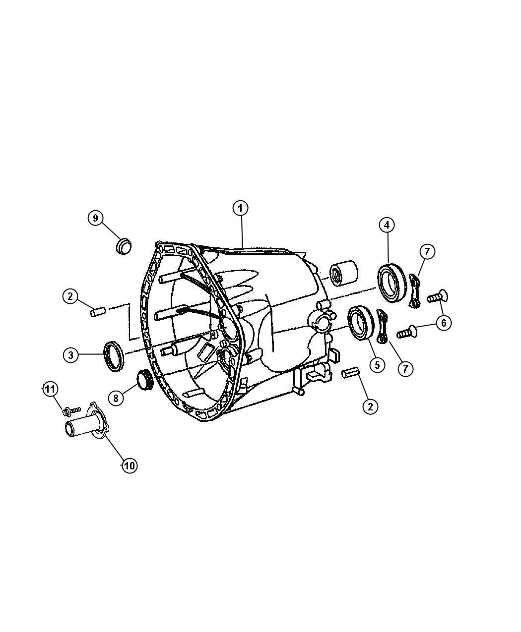 Dodge Nitro Housing Transmission Front Case Related