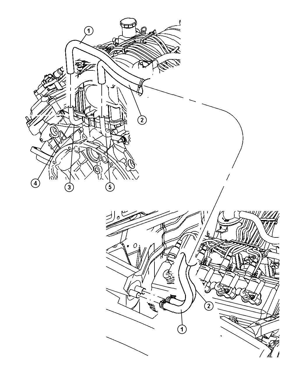Jeep Grand Cherokee Tube Coolant Inlet Engine Hemi