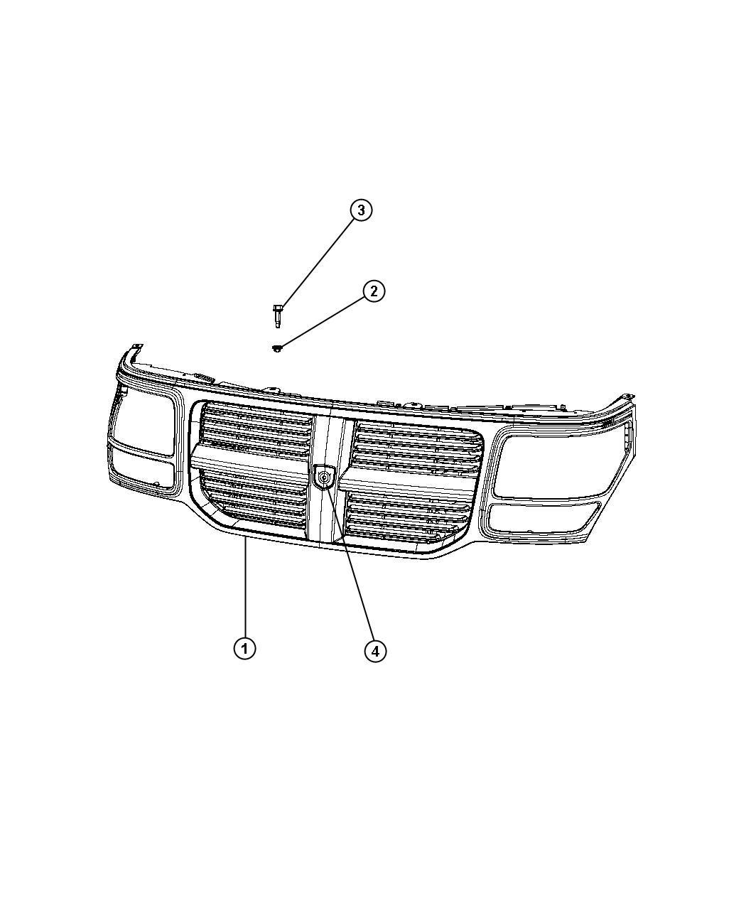 Dodge Nitro Grille Radiator W1 With Sales Code
