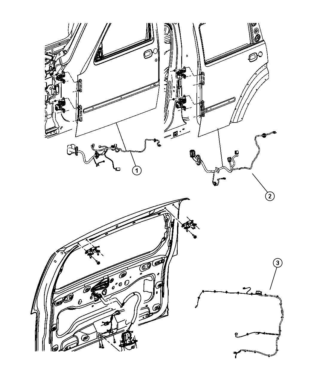 Dodge Nitro Wiring Front Door Left Hand Drive Right