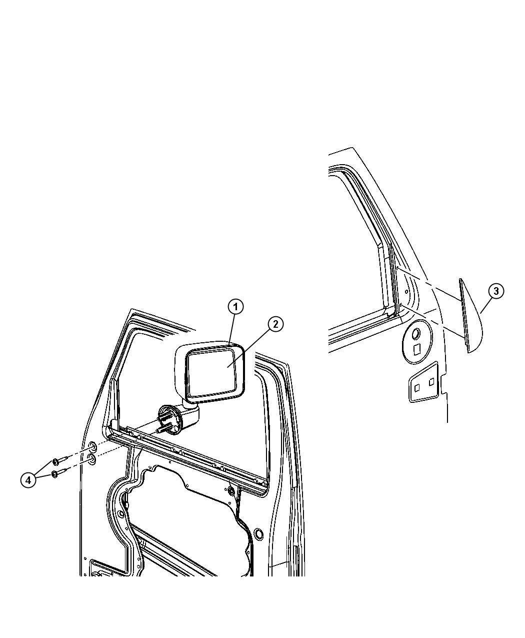 Jeep Wrangler Screw Hex Head M8x1 25x52 2 Per