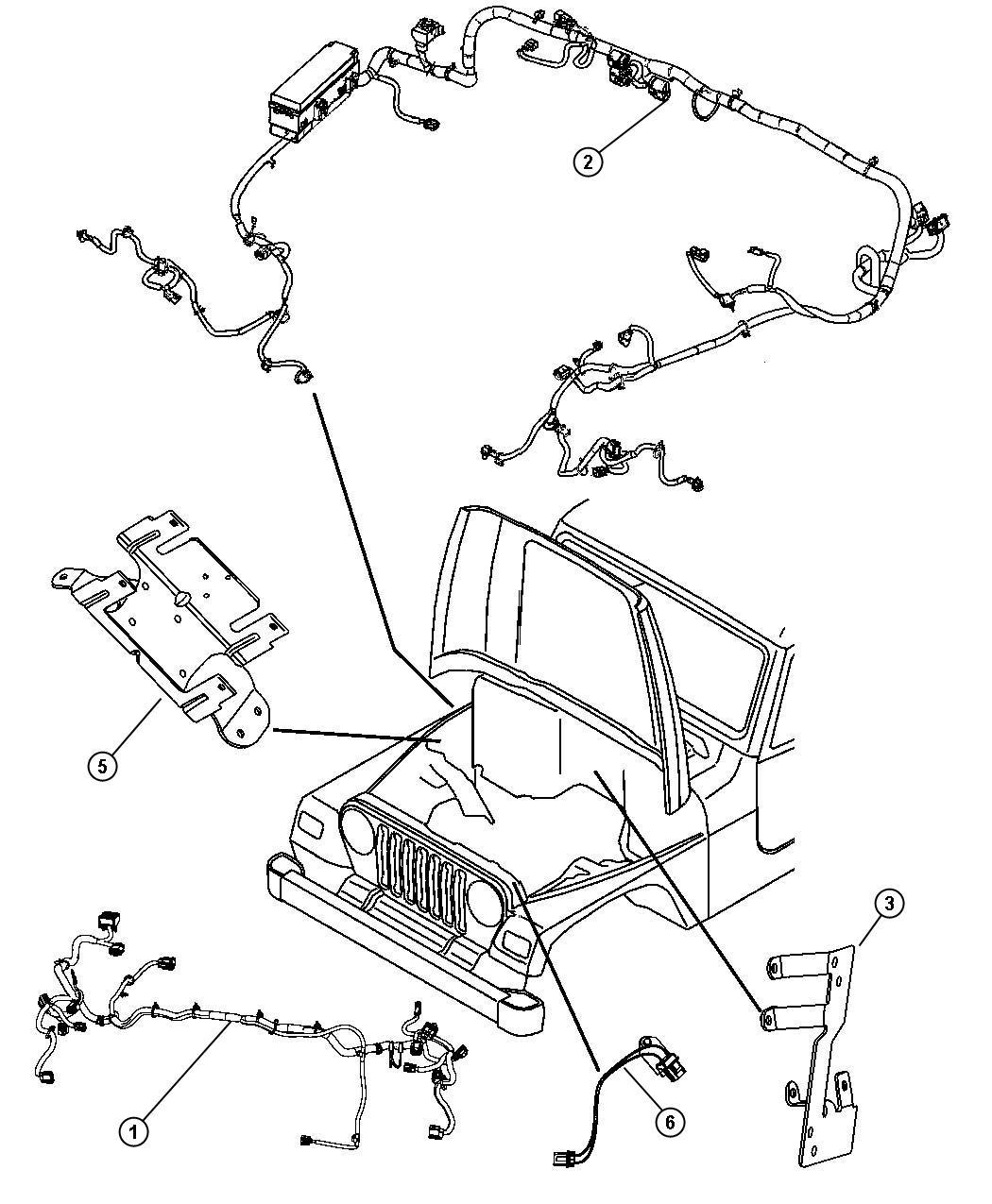 Jeep Wrangler Bracket Power Distribution Center