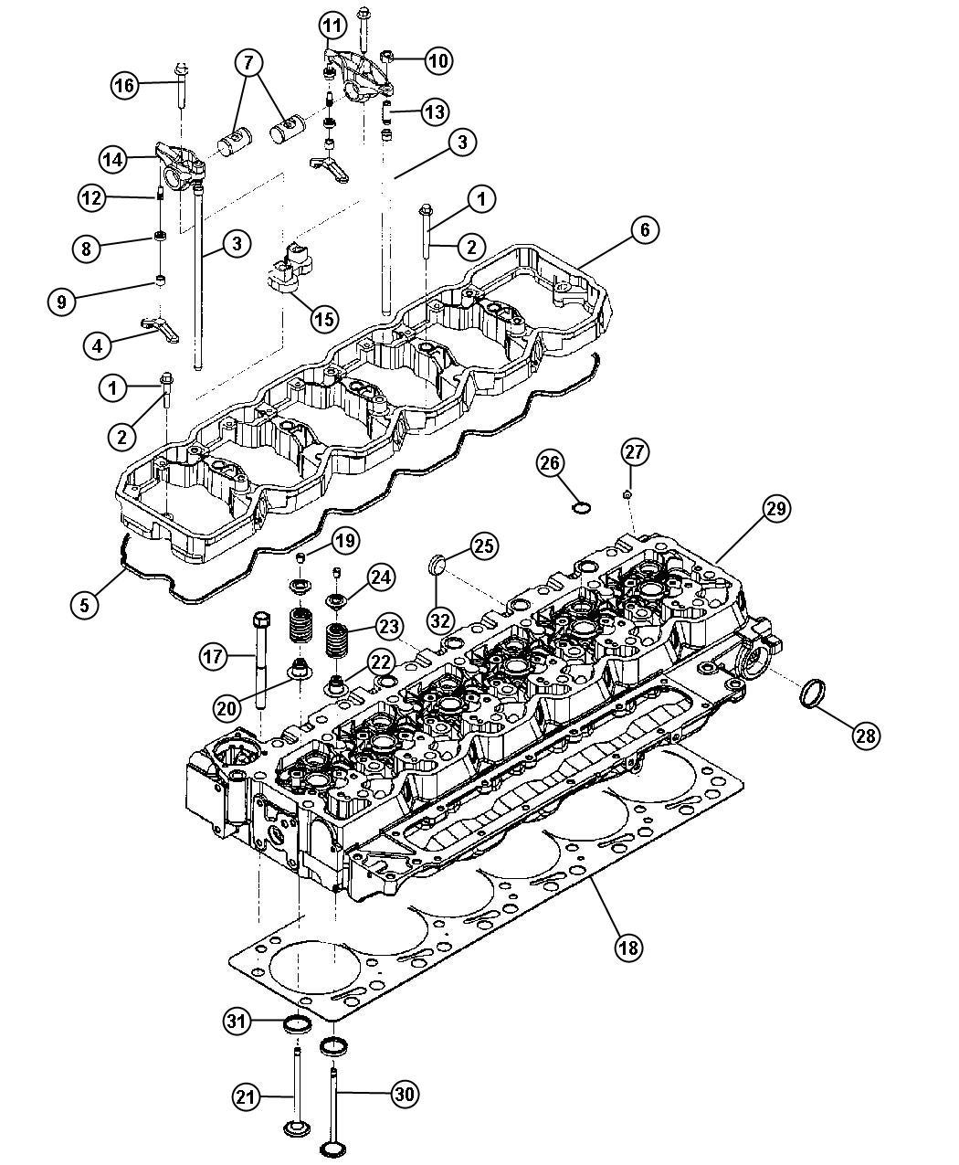 Dodge Ram Seal Valve Guide Exhaust Intake
