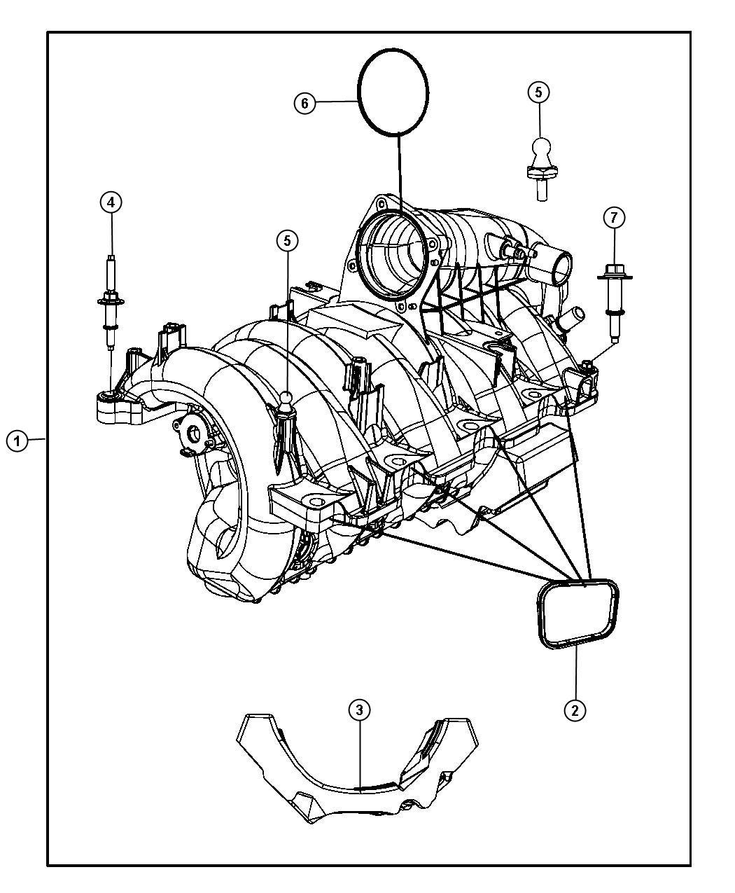 Dodge Durango Seal Intake Manifold Crew Cab Eve Engine