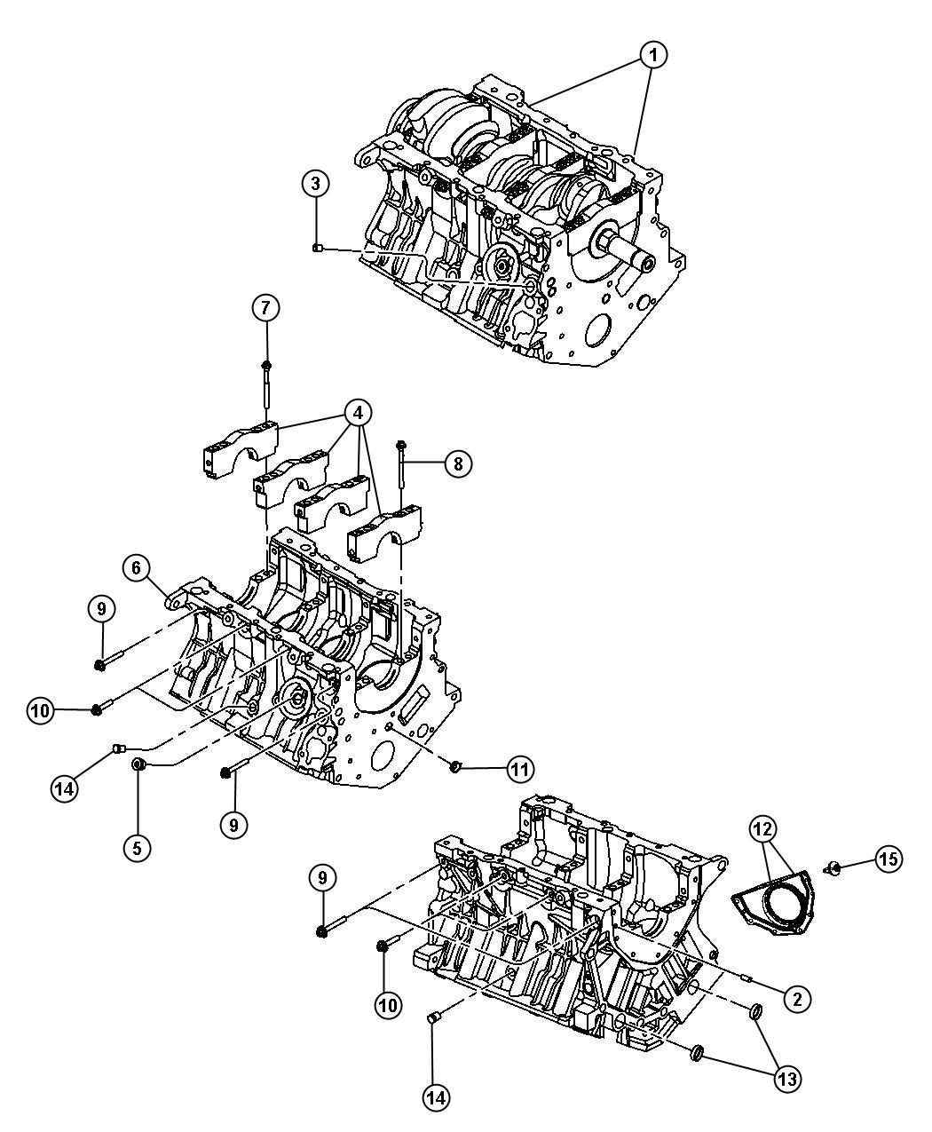 Dodge Nitro Engine Long Block Remanufactured Group
