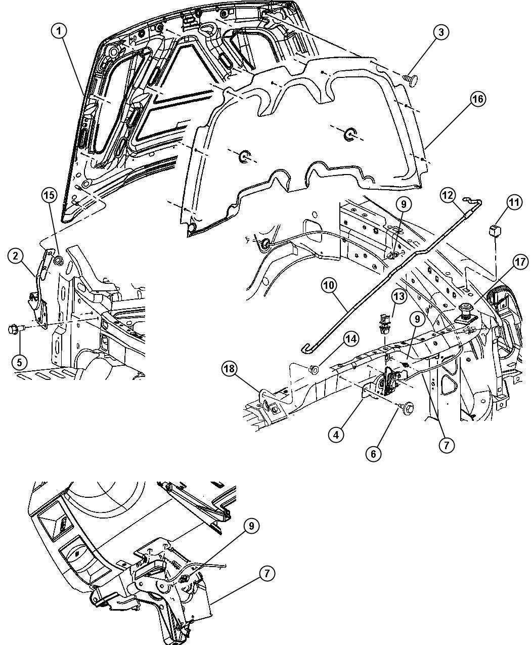 Dodge Stratus Isolator Hood Prop Rod Power Engine