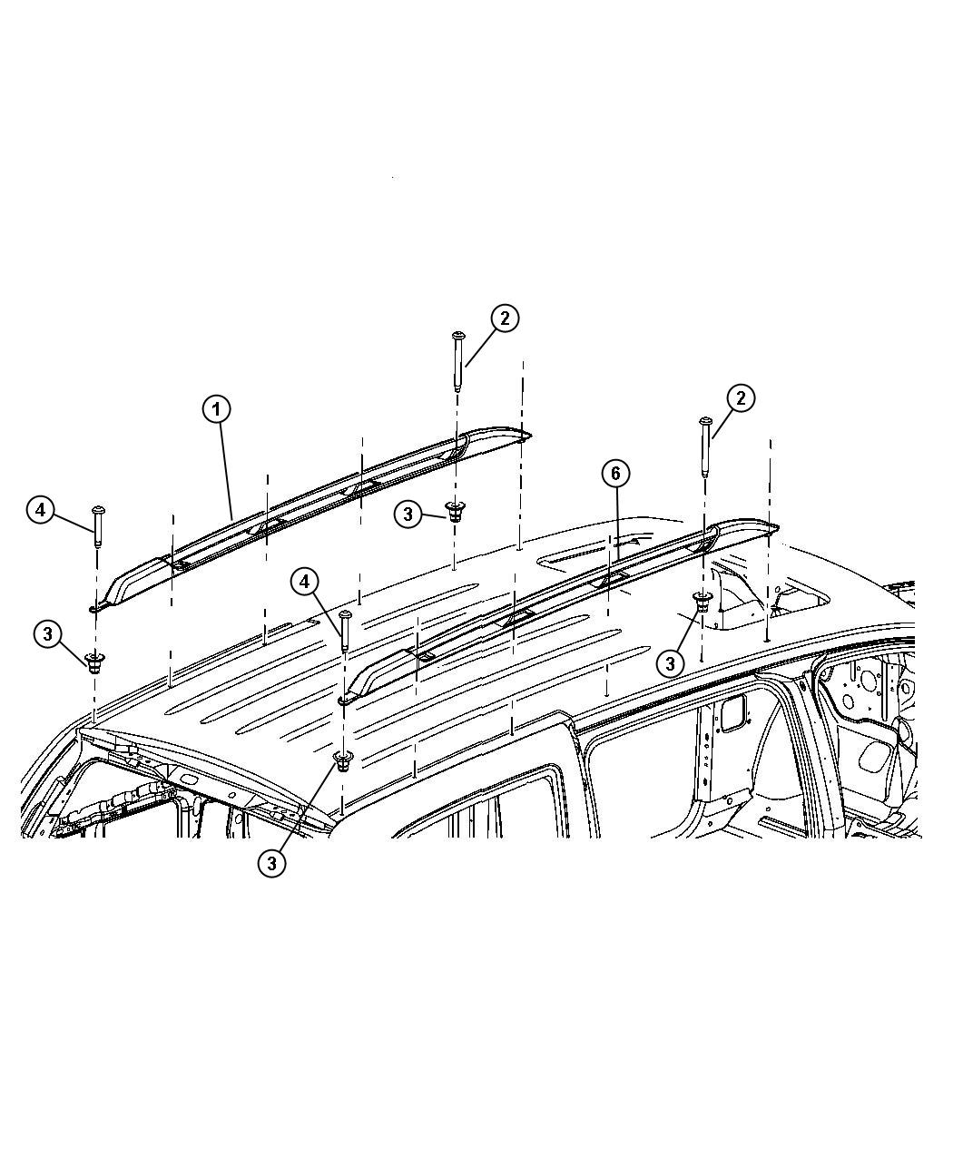 Dodge Durango Rail Roof Left Right Used For Right And Left Body Color Roof Rack