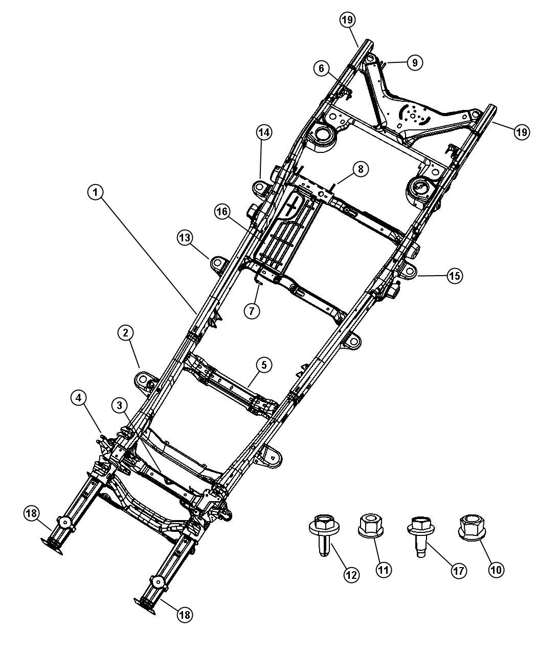 Dodge Durango Crossmember Transmission Frame