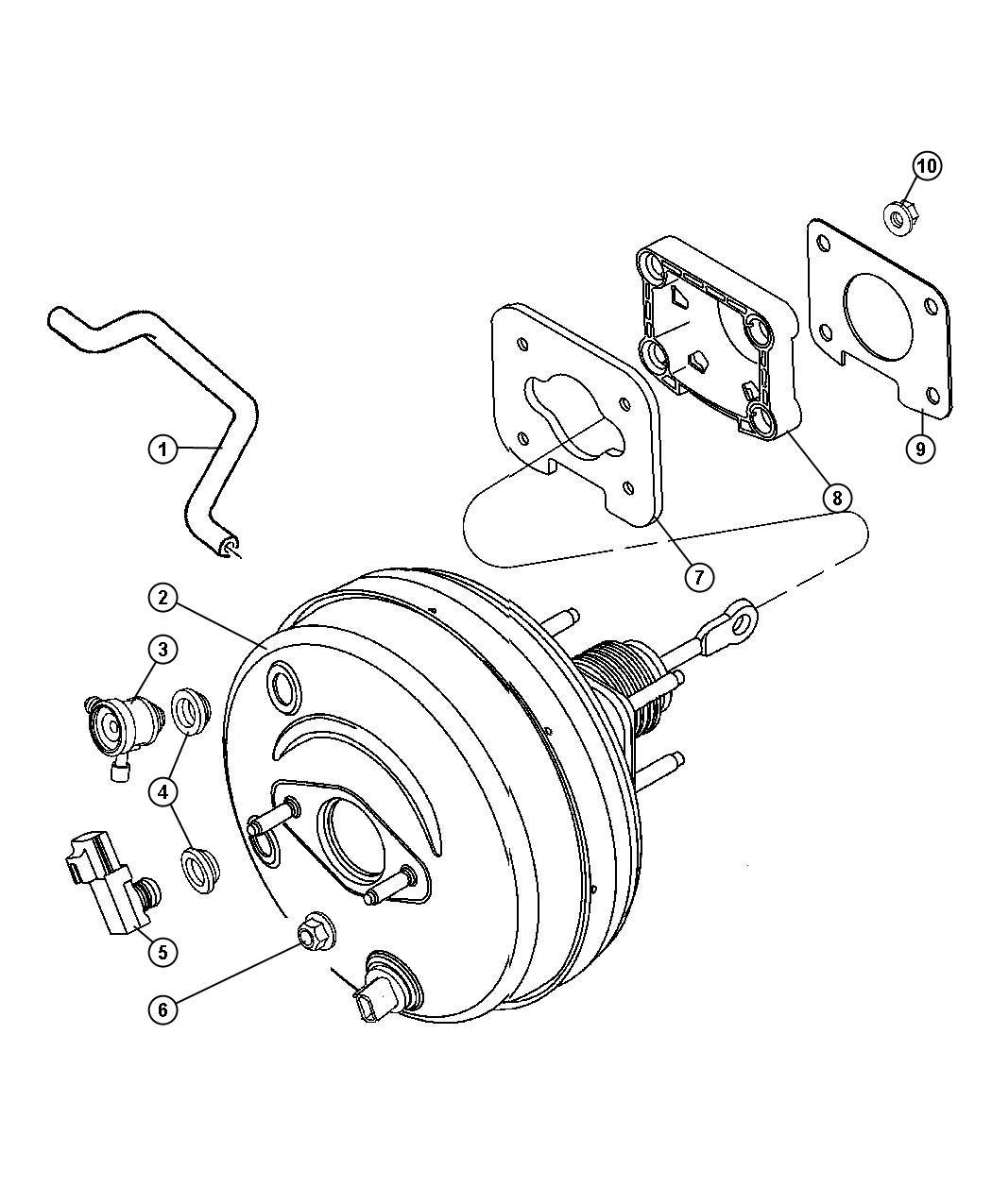 Dodge Durango Booster Power Brake Brakes