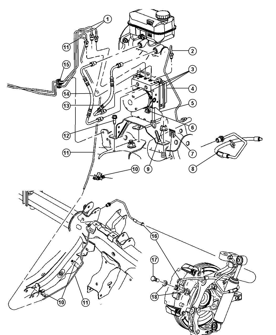 Chrysler Aspen Control Unit Anti Lock Brake