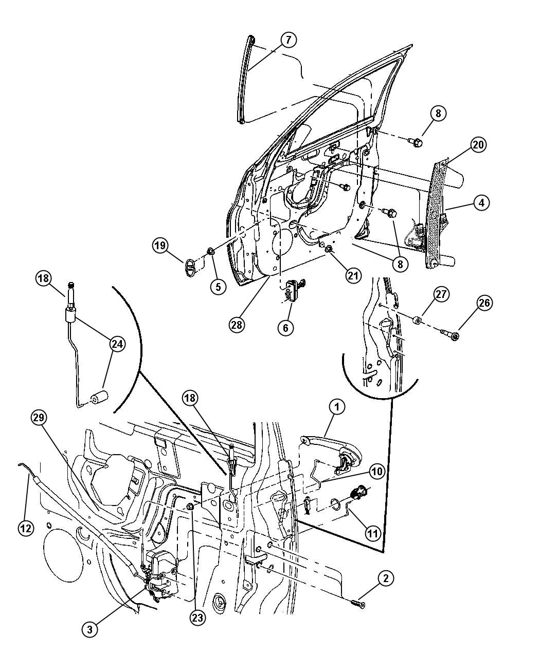 Chrysler Pt Cruiser Handle Door Interior Inside