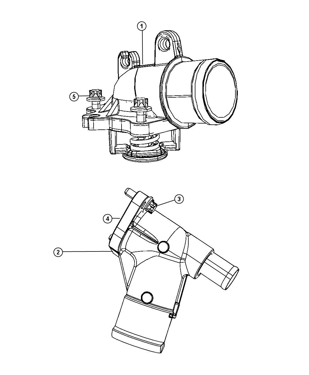Jeep Grand Cherokee Housing Thermostat Includes
