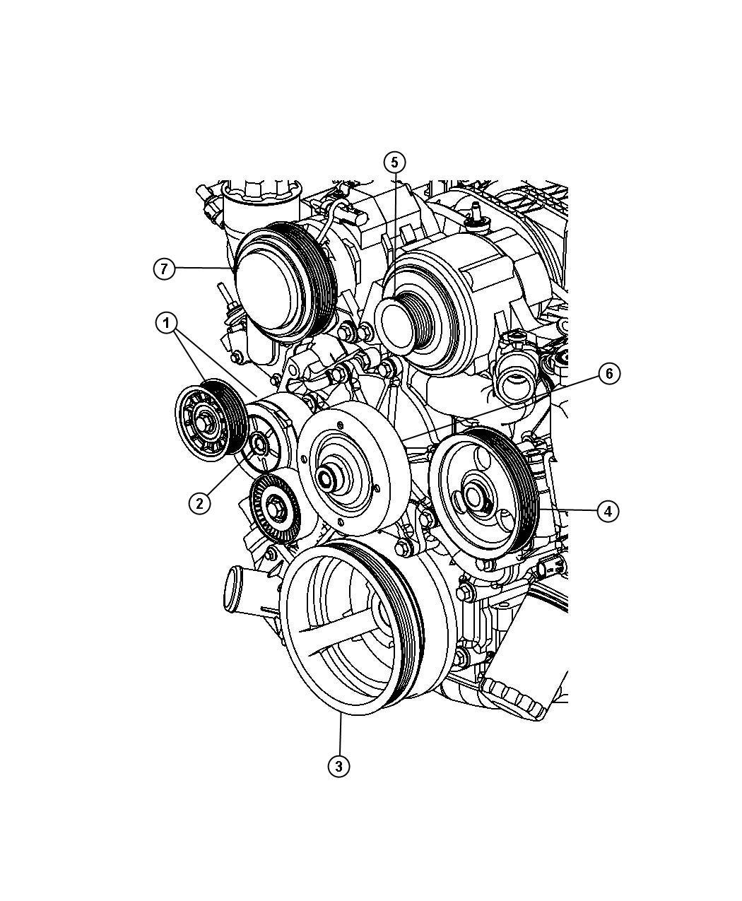 Jeep Commander Tensioner Belt 3 7l V6 Engine