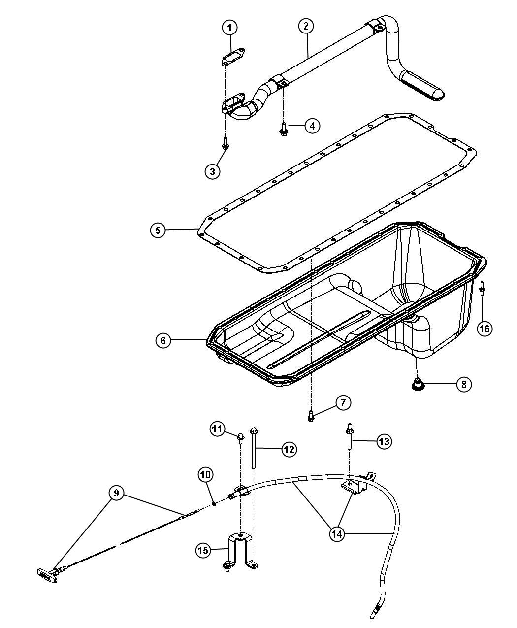 Dodge Ram Tube Engine Oil Indicator