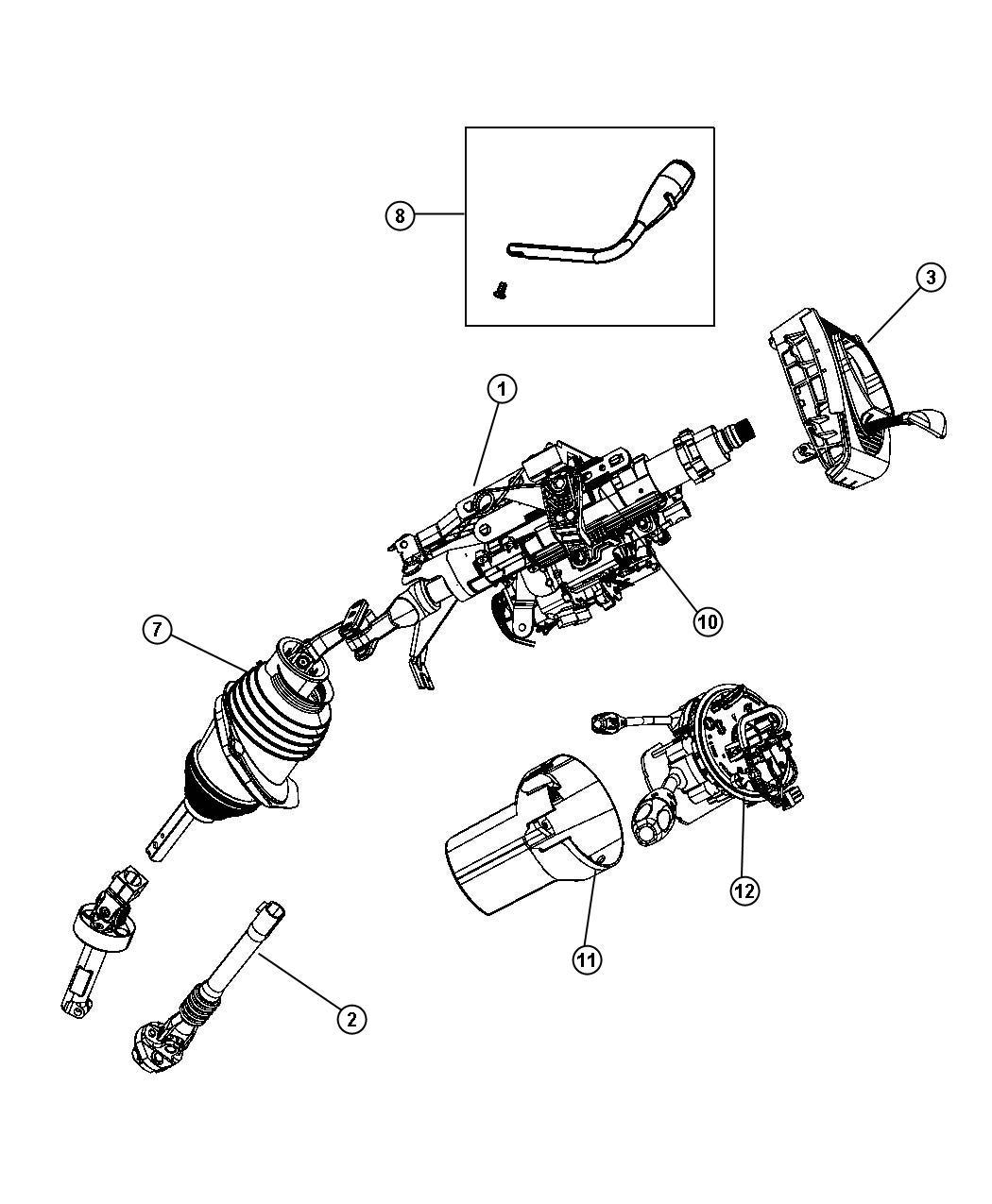 Dodge Charger Tilt Lock Package Manual Steering