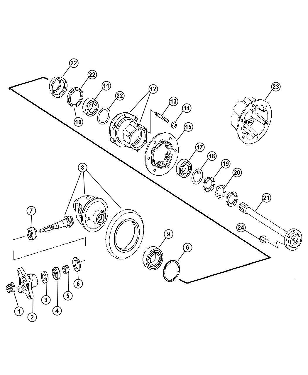 Dodge Sprinter Flange Suspension Rear Differential
