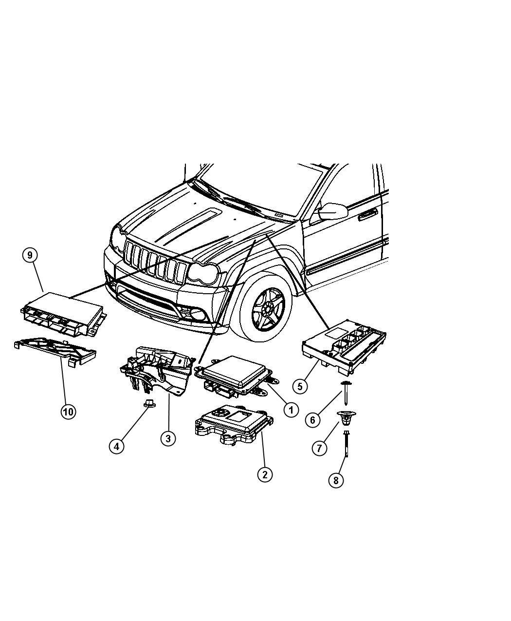Jeep Commander Module Powertrain Control Generic