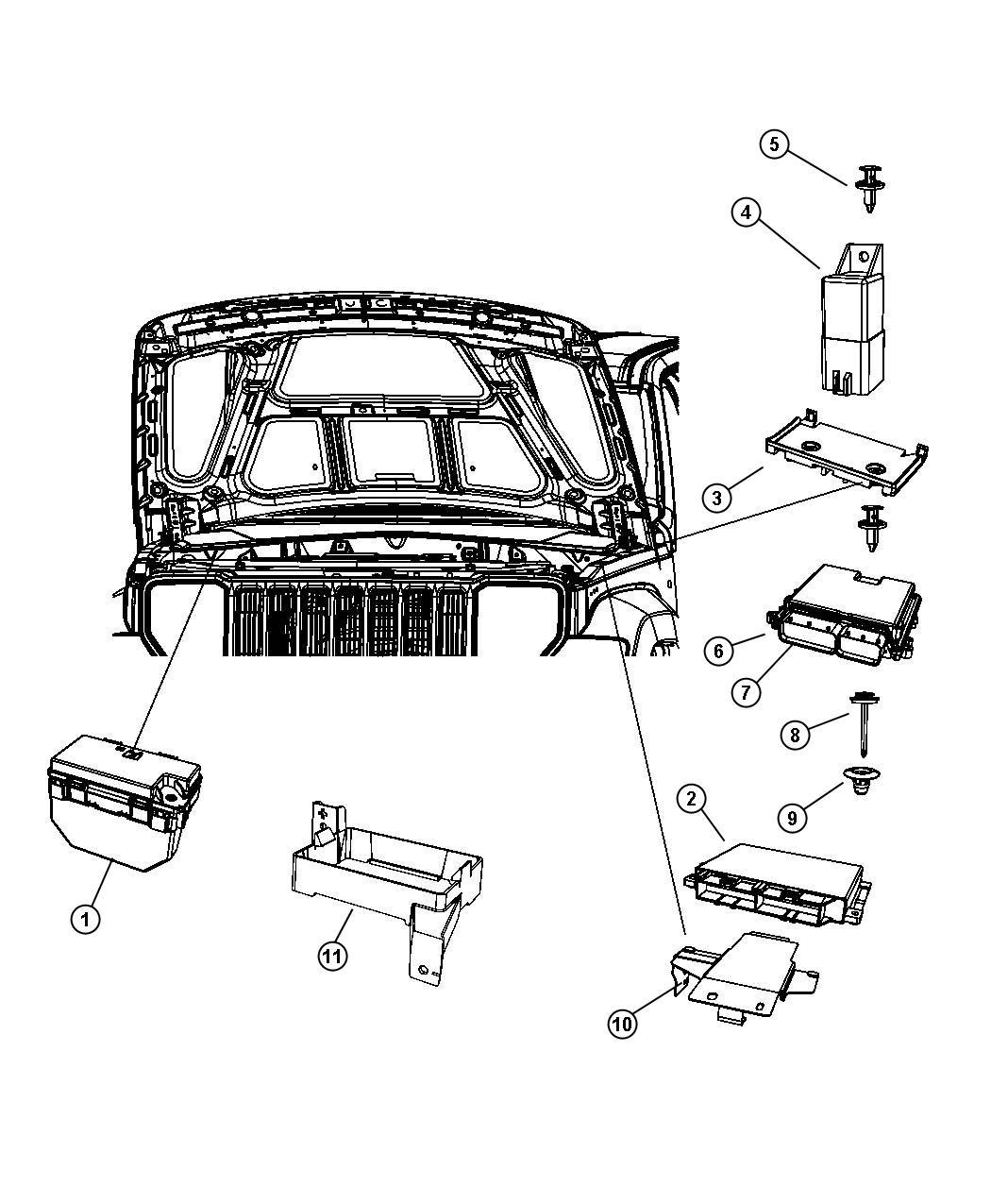 Jeep Liberty Module Glow Plug Modules Compartment