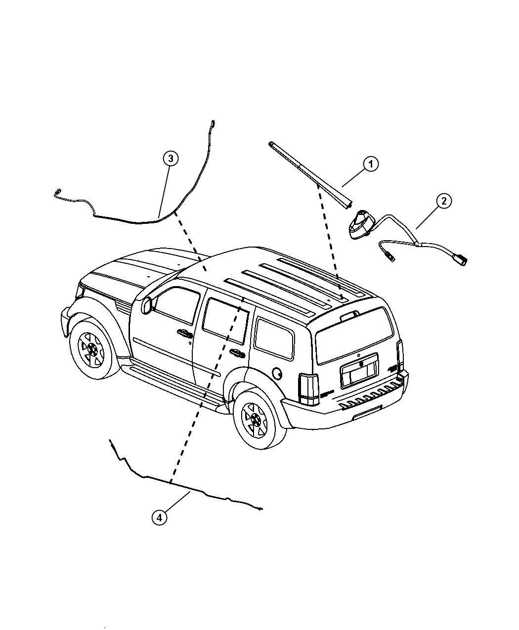 Dodge Avenger Mast Antenna Rdb Radio Speakers Short