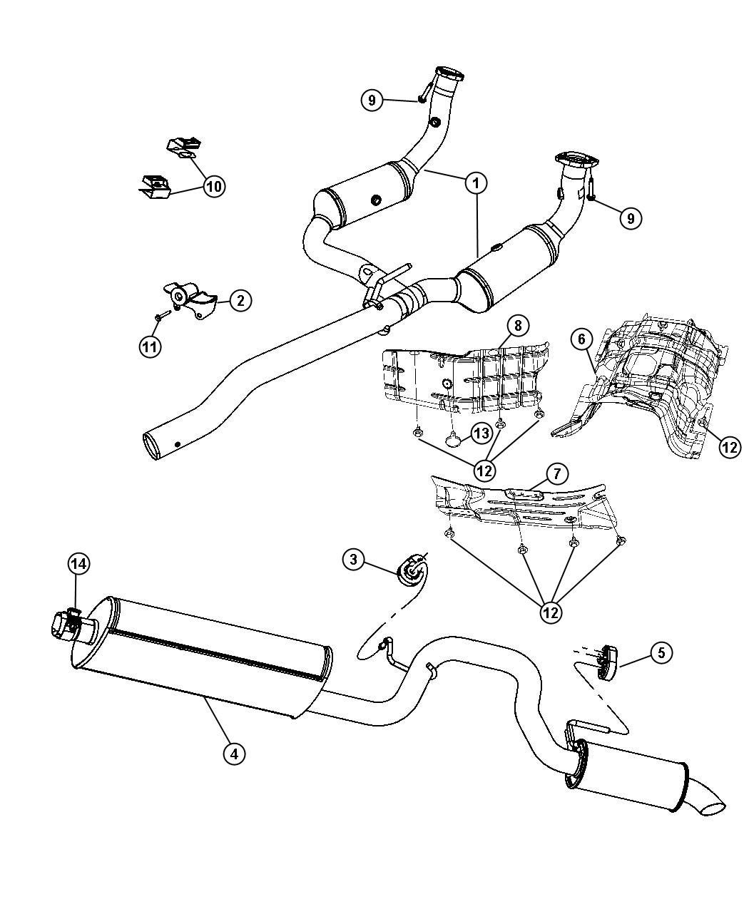 Jeep Liberty Used For Muffler And Tailpipe Exhaust